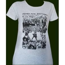 """Тениска """"Първи рок фестивал 15.05.1987"""""""